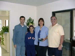 Me, Katie H., at Above All Aviation Airport with my mom Debbie Hosseini, Dave Cole, and Mr. Nevens.