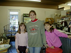 That's me (Julia C.), Deanna (one of the owners of the Coffee Grinder), and Deanna's daughter.
