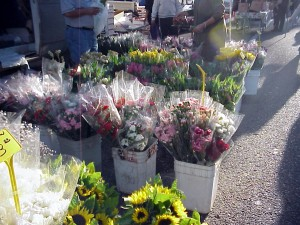 Flowers at farmers market, 2001.