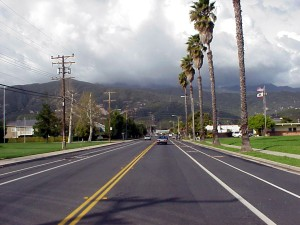 Linden Avenue, looking toward the mountains.