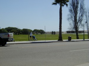 The State Beach Park from Linden Avenue.