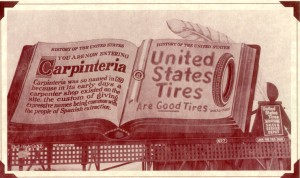This was Carpinteria's first welcome sign that was built in 1920.