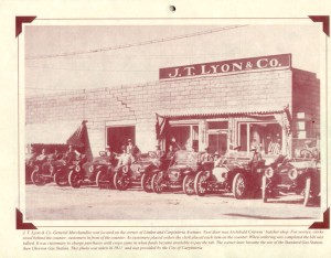 This picture is located on the corner of Linden and Carpinteria Avenue in 1911.