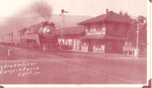 This picture is of the steamliner coming from Santa Barbara in 1936.