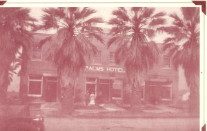 This picture is of the Palms Hotel on Linden Avenue which is now a restaurant. The picture was taken in 1912.