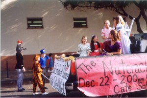 Curtis Studio of Dance Nutcracker Float from the Christmas Parade in December of 2000.