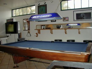 The pool table in The Zone's game room.