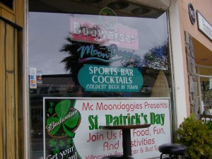 The window of Moondoggies.